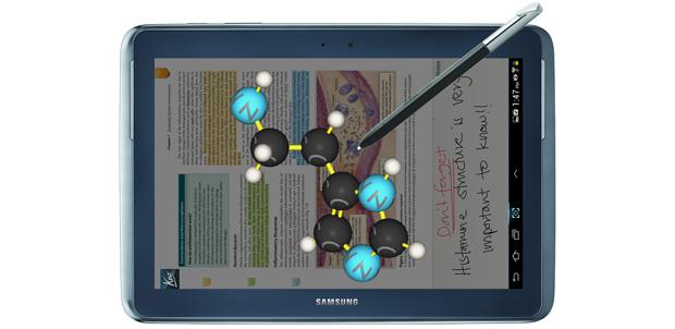 Educación en la nueva Galaxy Note 10.1