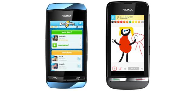 Draw Something en Nokia Asha Touch