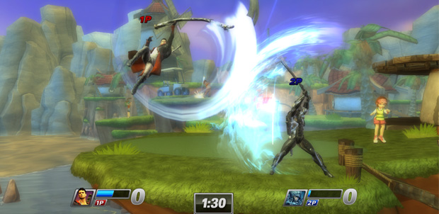Raiden en All Stars Battle Royale