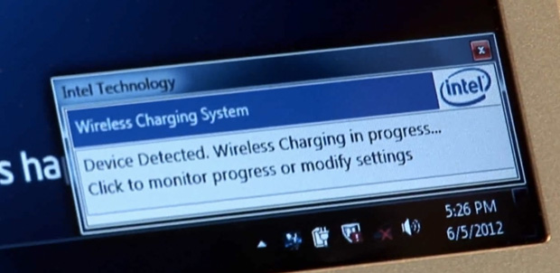 Intel Wireless Charging para Ultrabook