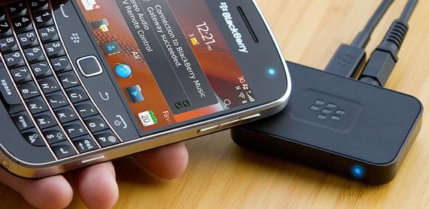 BlackBerry Music Gateway con Bluetooth y NFC