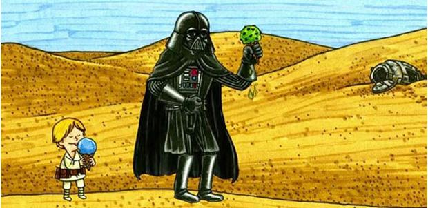 ¿Qué sería si Darth Vader fuera buen padre?