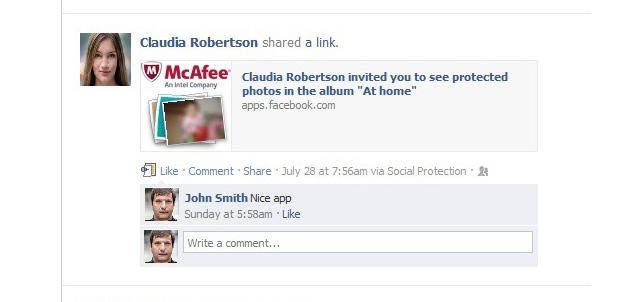 McAfee-Facebook