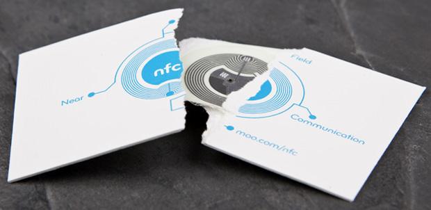 Tarjetas de presentación con NFC