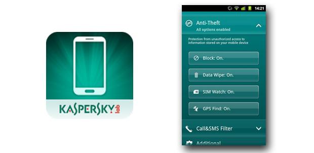 Kaspersky contra el robo de tu Android