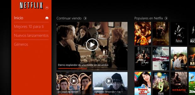 Netflix ahora disponible para Windows 8