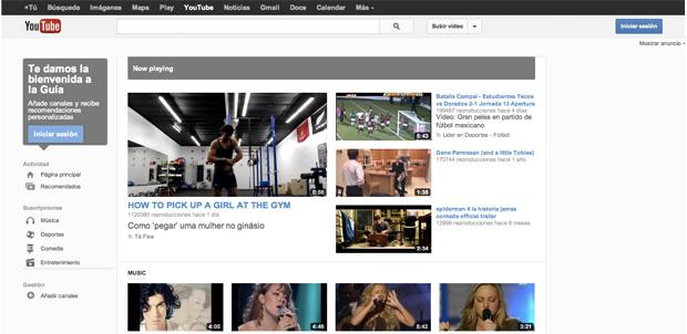 Nuevo diseño para YouTube muy Google+