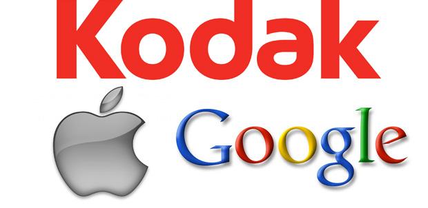 Apple y Google compran patentes de Kodak