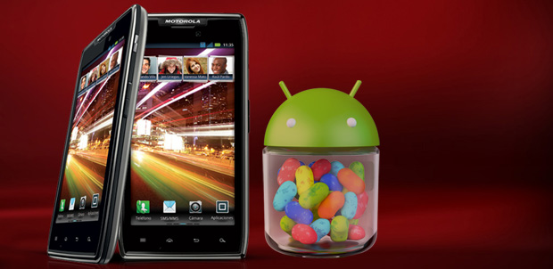 Jelly Bean está llegando a Motorola