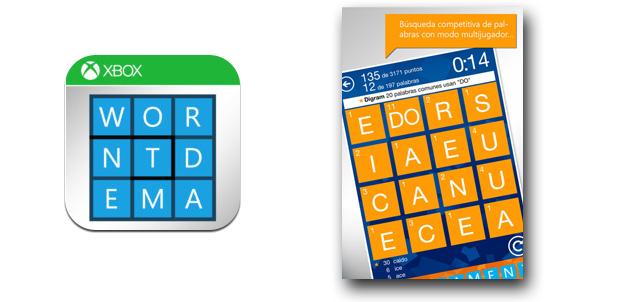Wordament con Achievements para iOS