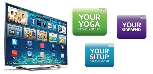 Ejercítate con Samsung Smart TV