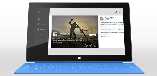 Características de Twitter en Windows 8