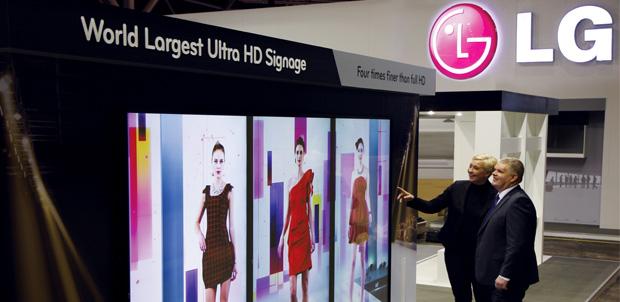 Pantallas Ultra HD de LG para comercios