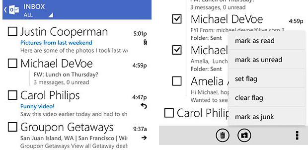 Outlook para Android con nuevo diseño