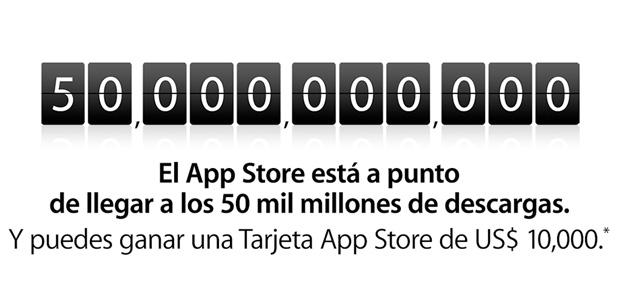 50 mil millones de descargas en App Store