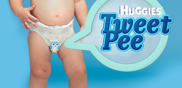 Huggies Tweet Pee para papás primerizos
