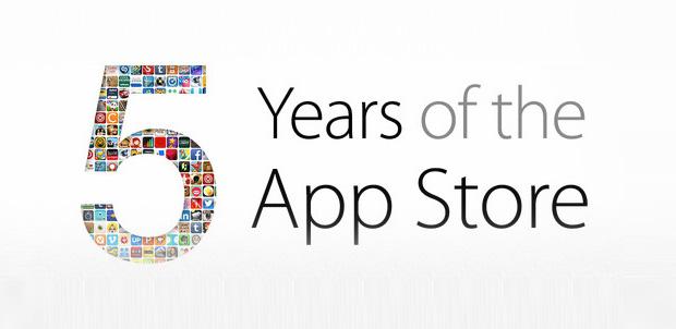 Apple festeja 5 años de la App Store