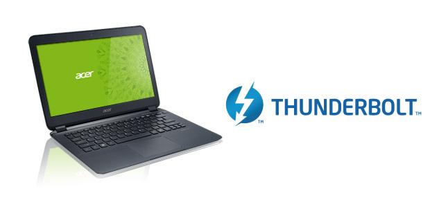 Acer retira Thunderbolt para usar USB 3.0