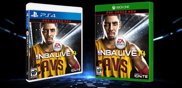 Kyrie Irving en la portada de NBA LIVE 14