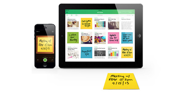 Post-its dentro de Evernote en tu iOS