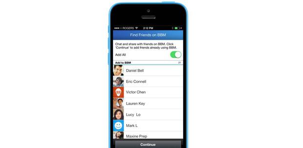 Encuentra amigos de BBM en iOS y Android