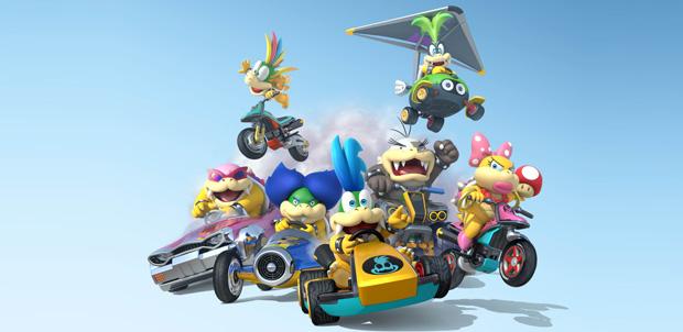 Los Koopalines participan en Mario Kart 8