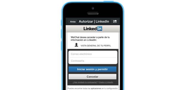 Enlaza tus cuentas de LinkedIn a WeChat