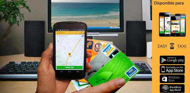 Easy Taxi acepta pagos con tarjeta de crédito
