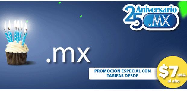 Festeja el 25 aniversario del dominio .MX