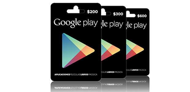 Llegan tarjetas de regalo de Google Play