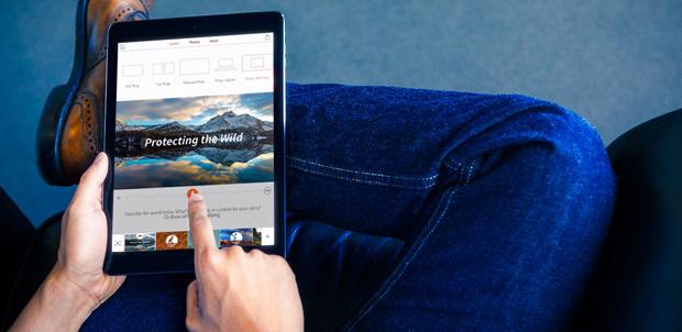Adobe Voice permite crea historias en iPad
