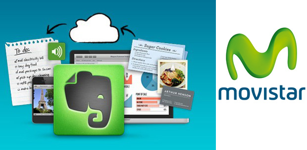 Evernote Premium gratis un año en Movistar