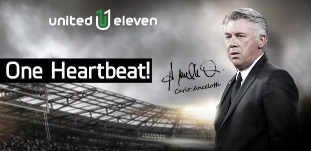 Carlo Ancelotti la nueva cara de United Eleven