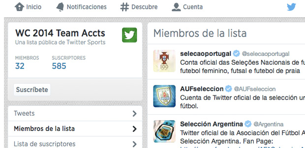 Twitter con la cobertura para #Mundial2014