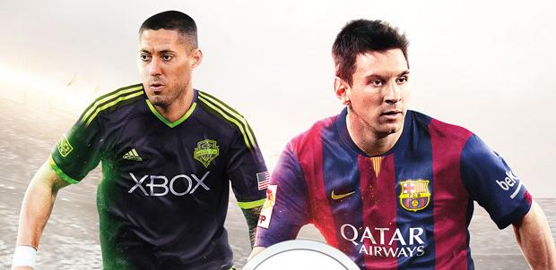 Clint Dempsey en la portada de FIFA 15