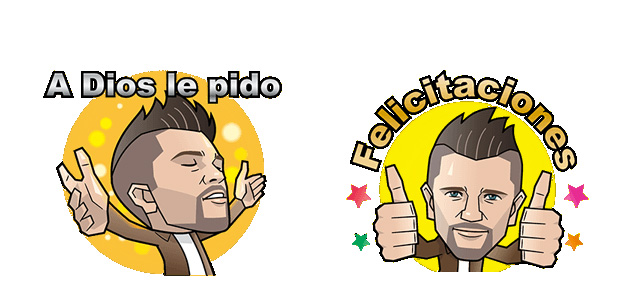 Stickers de Juanes disponibles para LINE