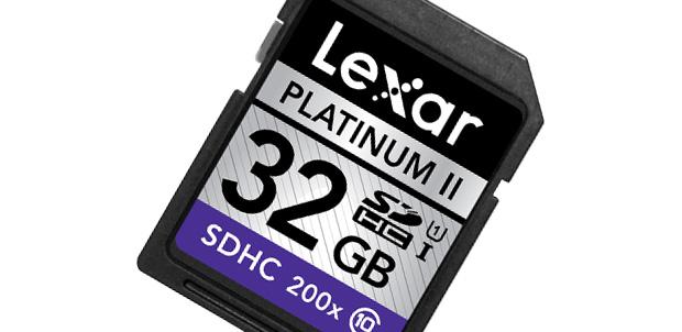 Guarda tus videos en una Lexar Platinum II