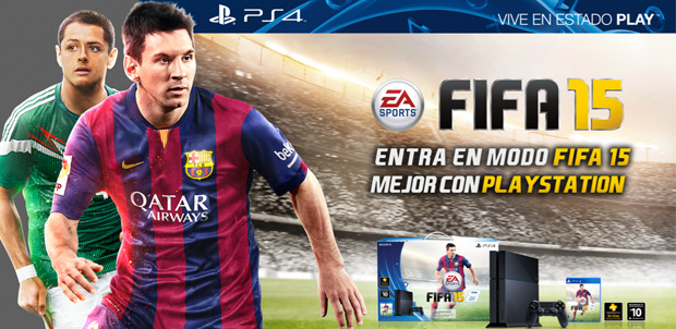 Bundles de PlayStation 4 y PS3 con FIFA 15