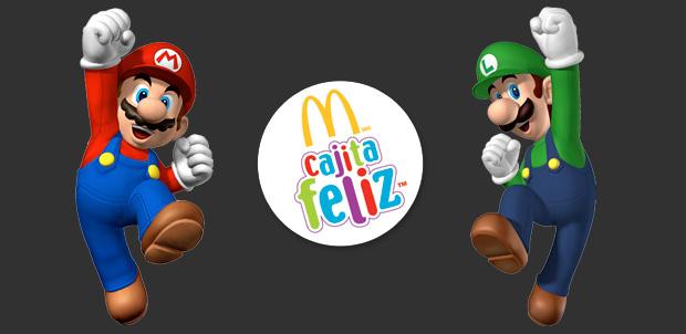 Super Mario en la Cajita Feliz de McDonald's
