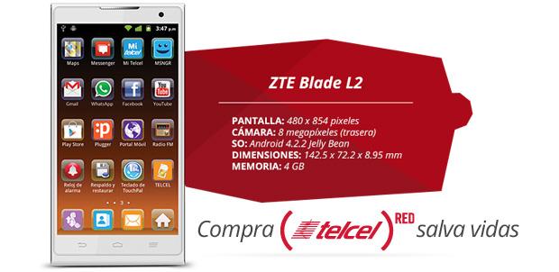 ZTE-Blade-L2-Telcel-Red