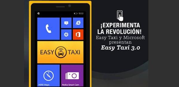 Nueva versión de Easy Taxi 3.0 para Lumia