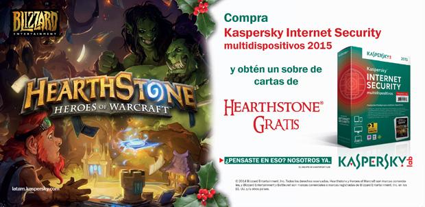 Kaspersky te regala cartas para Hearthstone