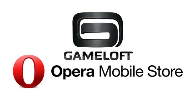 Juegos de Gameloft a Opera Mobile Store