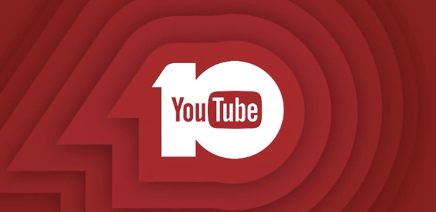 YouTube 10 aniversario