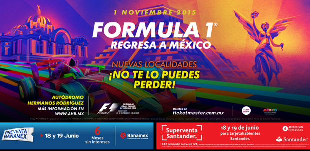Formula 1 Mexico boletos
