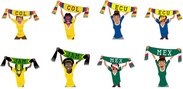 Stickers Facebook Copa America
