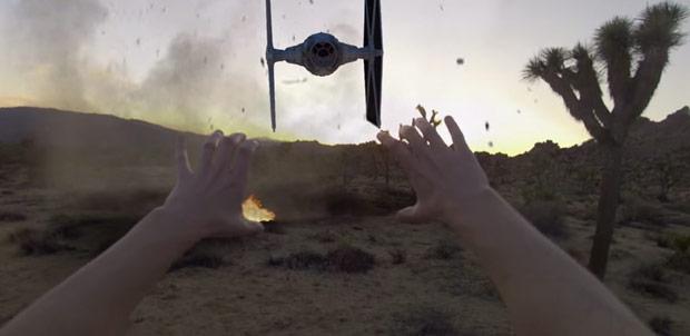 ¿Qué pasa si juntas el poder Jedi y una GoPro?