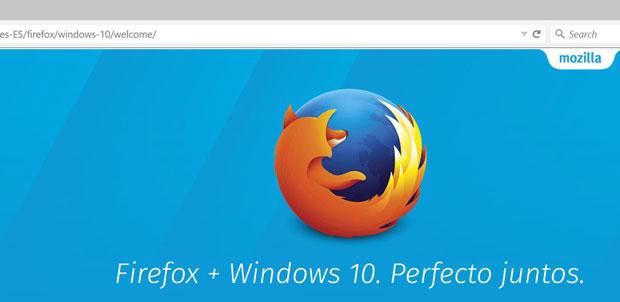 La nueva cara de Firefox llega con Windows 10