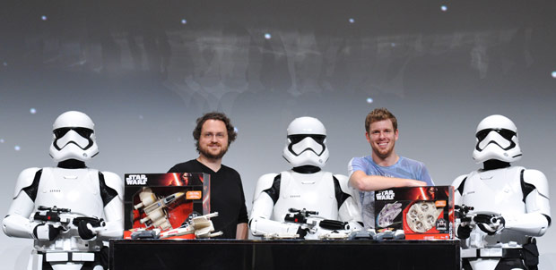 Millennium Falcon y X-Wing los drones de Star Wars