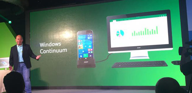 Acer Jade Primo compatible con Microsoft Continuum